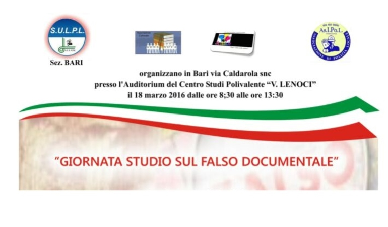 Giornata di studio sul Falso Documentale